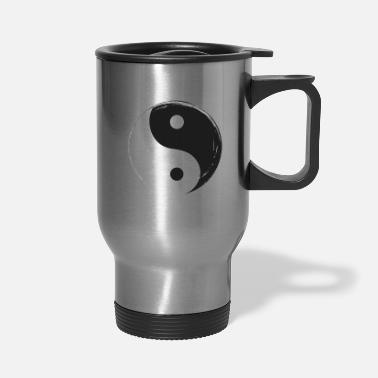 Long Yin Yang Gift Kung Fu Christmas Meditation Symbol - Travel Mug