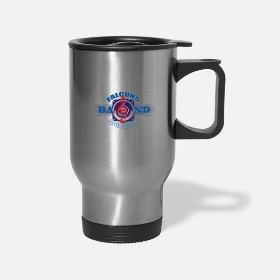 School Mugs & Drinkware - SCHRADE FALCONS BAND ROCKS! - Travel Mug silver