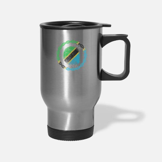 Tanzania Mugs & Drinkware - Tanzania Its In My DNA - Travel Mug silver