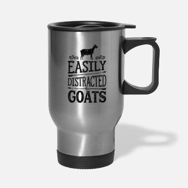Cow Easily Distracted By Goats T shirt Cow Farmer - Travel Mug