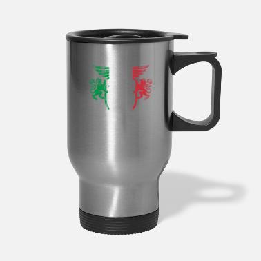 Country Italy Flag and Lion Wings Design - Travel Mug
