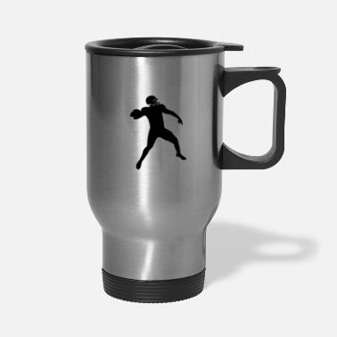 Suit Player fits Football American Football Design - Travel Mug