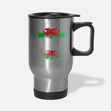 Map Welsh Grown With Welsh Roots - Travel Mug