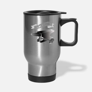 Iron Metal blacksmith smith bladesmith metal gift anvil iron - Travel Mug