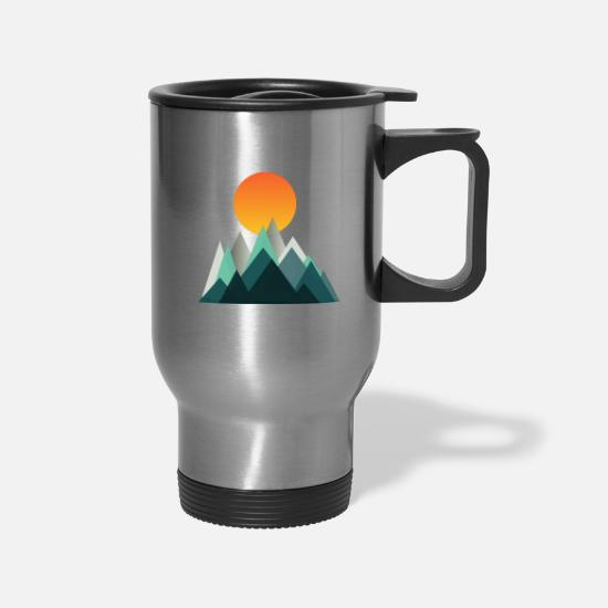 Winter Mugs & Drinkware - Sunrise - Travel Mug silver