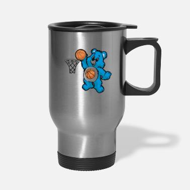 BASKETBALL TEDDY Dunk Dunking Master Son Gift - Travel Mug