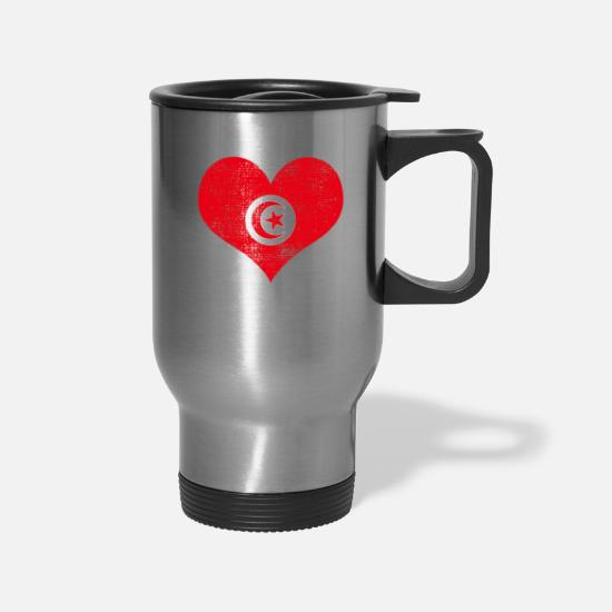 Patriot Mugs & Drinkware - Tunisia - Travel Mug silver