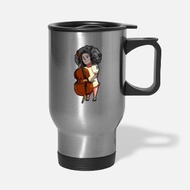 Band Double Bass Player Musician Jazz Brass Band Gift - Travel Mug