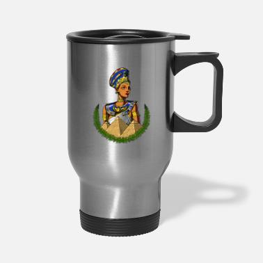 Ancient Civilization Egyptian Queen Nefertiti Ancient Mythology - Travel Mug