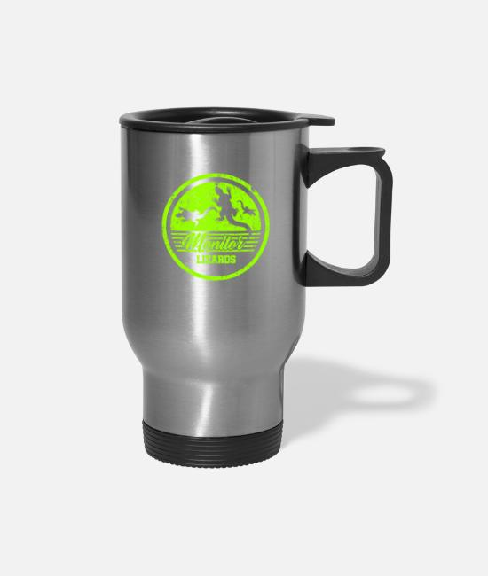 Reptile Mugs & Cups - Monitor Lizard Africa - Travel Mug silver