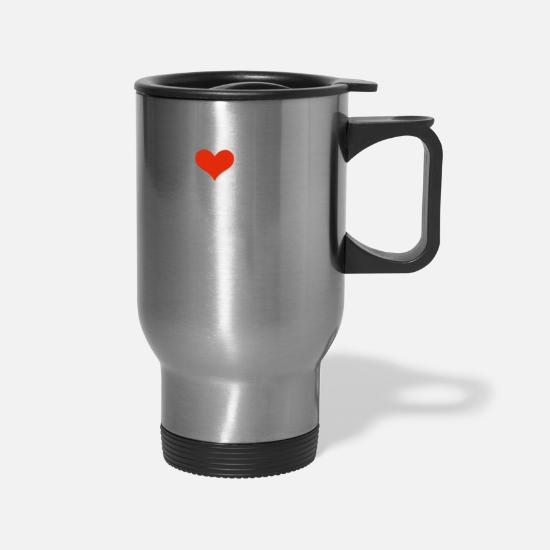 Girlfriend Mugs & Drinkware - I Love my hot Cuban Girlfriend Valentine's Day - Travel Mug silver
