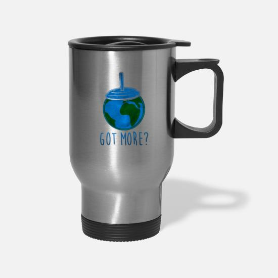 Planet Mugs & Drinkware - Save the Planet There is no Planet B - Travel Mug silver