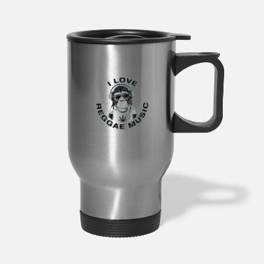 I Love Reggae Music | Jamaican Rasta Stoner Roots - Travel Mug