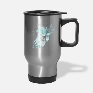Funny Halloween Stoner Pothead Cannabis Apparel | - Travel Mug