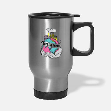 Hands Holding The Earth Save the Earth| Two Hands Holding World| Factory - Travel Mug