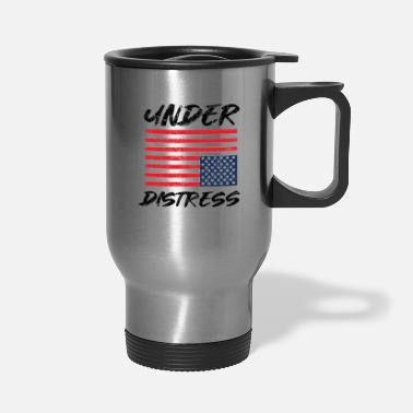 American Flag In Distress Under Distress American Flag - Travel Mug