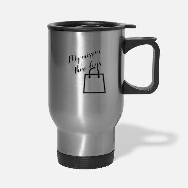 Monday Funny Blackfriday Quote Shopping Team - Travel Mug