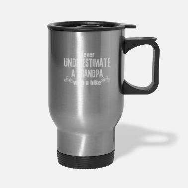 Bmx Grandfather Grandpa With Bicycle | Cycling Cyclist Grandfather - Travel Mug