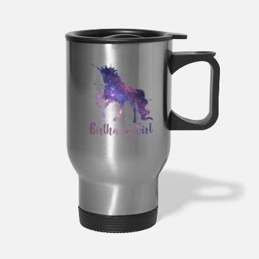 Girls Girl's Space Galaxy Unicorn Birthday - Travel Mug