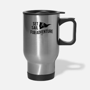 Treasure Pirate seafaring adventure treasure hunt - Travel Mug