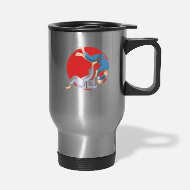 Jiujitsu Touch me and this is how you roll - Travel Mug