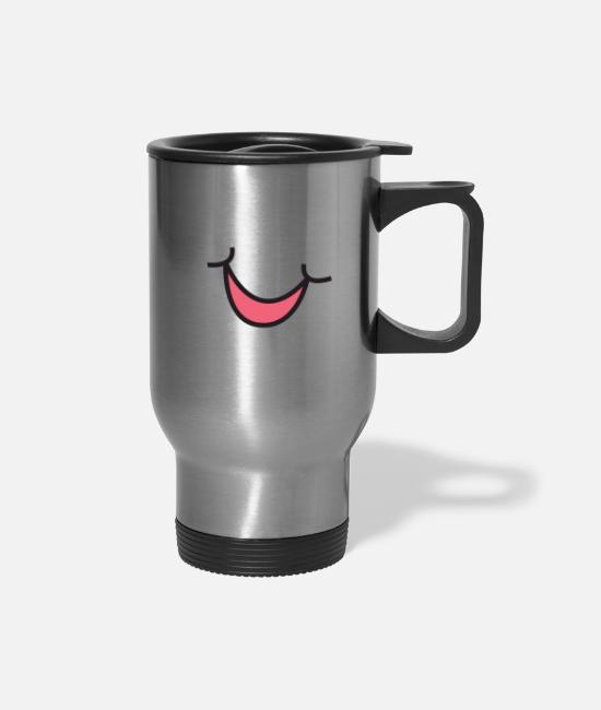 Faded Mugs & Cups - Funny Funny Mask - Travel Mug silver