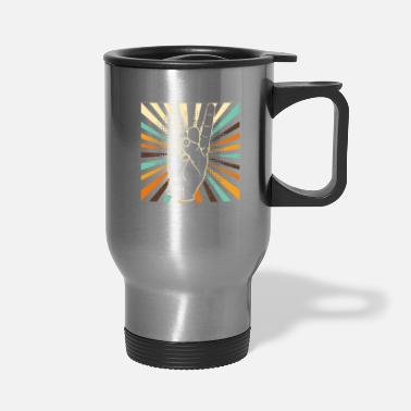 Electro Vintage rock and roll hand - Travel Mug