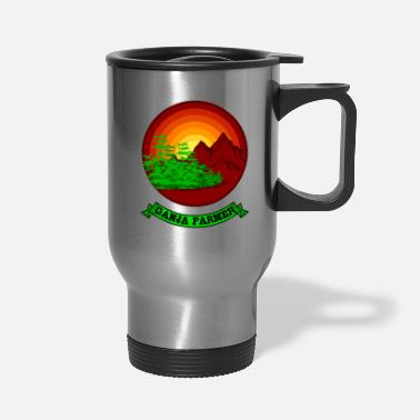 Cannabis GANJA FARMER RETRO Marijuana Gifts For Stoner 420 - Travel Mug