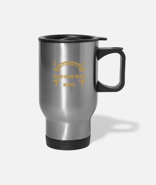 Church Mugs & Cups - Your Hardest Times Often Lead - Travel Mug silver