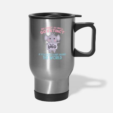 Africa extinct elephant Africa Environment - Travel Mug