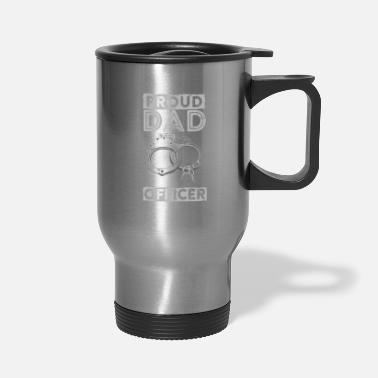 Read Proud Dad Corrections Officer Thin Silver Line - Travel Mug