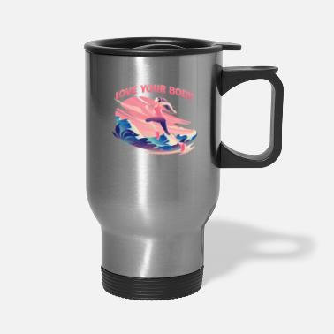 Triathlon Love Your Body Positive Mind Fitness Running - Travel Mug