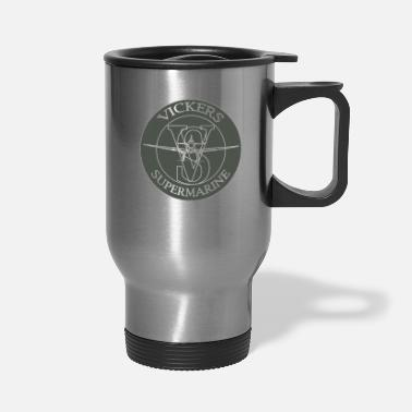 Calypso Airplane Pilot Fighter Steel Wings - Travel Mug