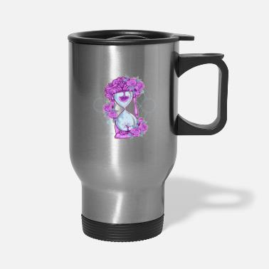 Wait Pastel Goth Blooming Flower Quote Hourglass - Travel Mug