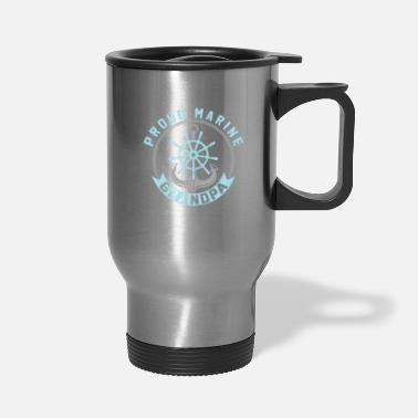 Marine proud marine grandpa Grandparents gift - Travel Mug