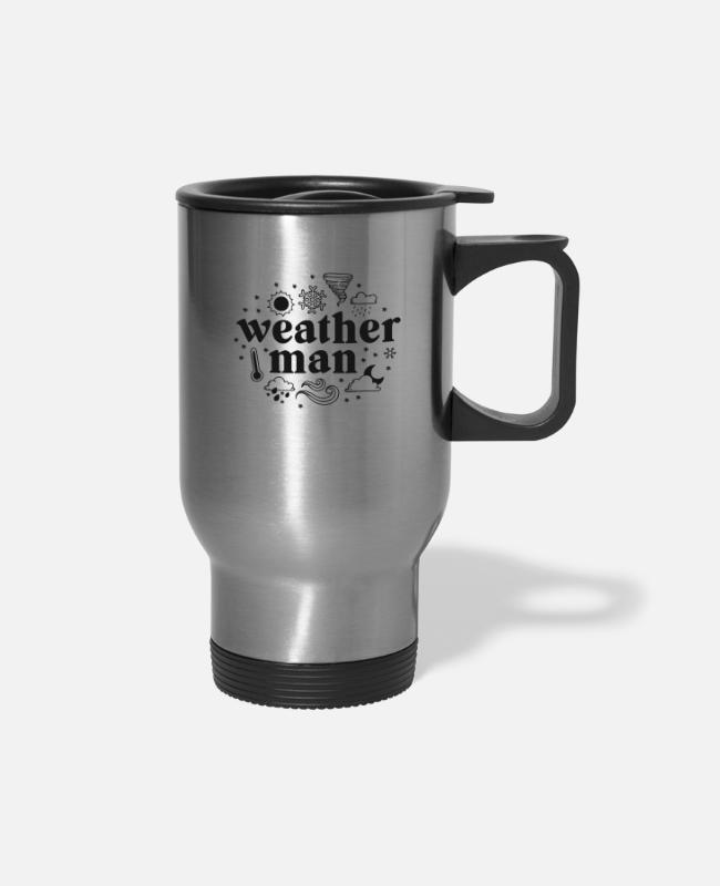 Weatherman Mugs & Cups - Weatherman Shirt Meteorologist Gifts Weather - Travel Mug silver