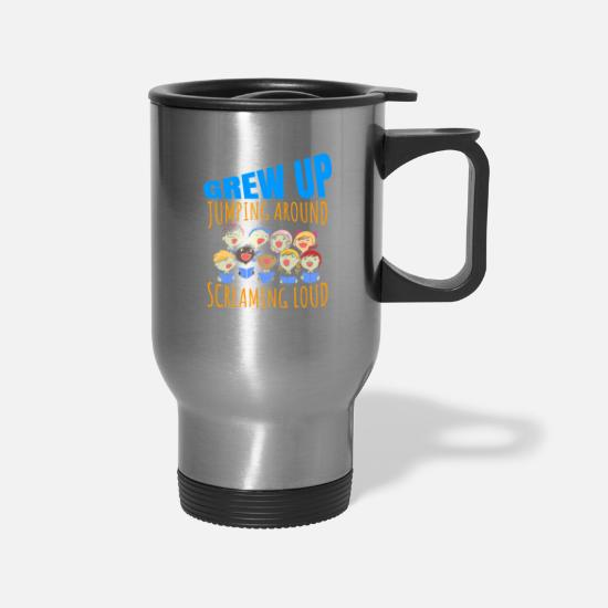 Choir Mugs & Drinkware - Growing Up Funny T-Shirt Present for Choir Singers - Travel Mug silver