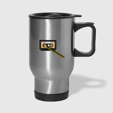 old school hacker - Travel Mug