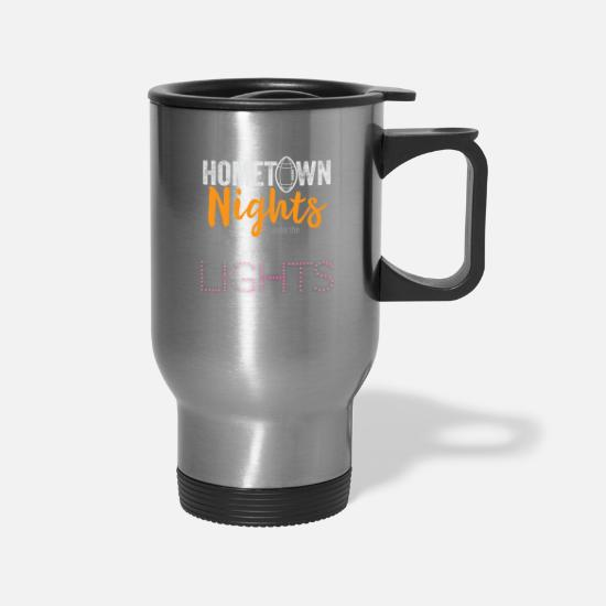 Hometown Mugs & Drinkware - Hometown Nights Under Lights - Travel Mug silver