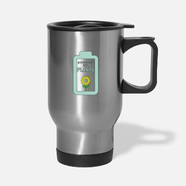 Greenpeace Plants energy vegan environment green live save - Travel Mug