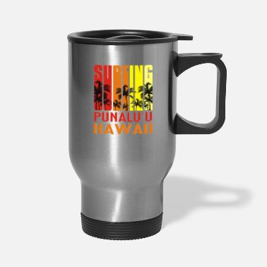 Hawaii Surfing Punalu u Hawaii TShirt Retro Surfer Tee - Travel Mug