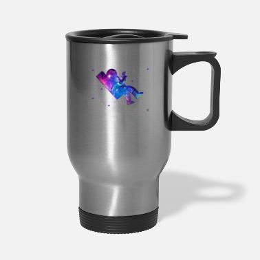 Lazy The Floor is Responsibilities Lazy Astronaut Gift - Travel Mug