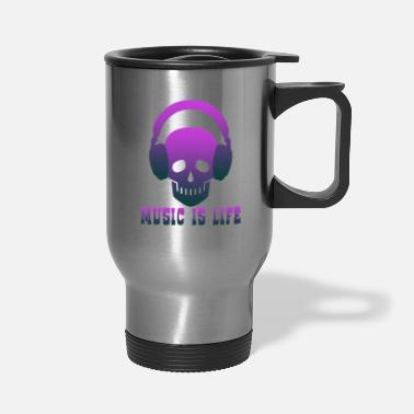 Music Club Music is Life music,musical instrument,music club - Travel Mug