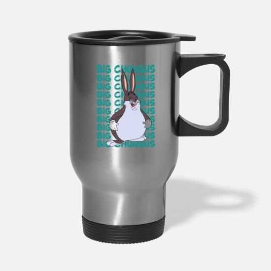 funny big chungus meme lovers Fat rabbit Travel Mug