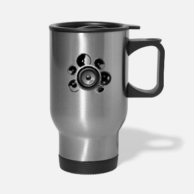 Trance Speakers Electronic Bass Music Hifi Sound Techno - Travel Mug