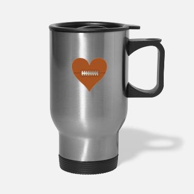 Football Field My Heart Is On The Field Football T-Shirt for Moms - Travel Mug