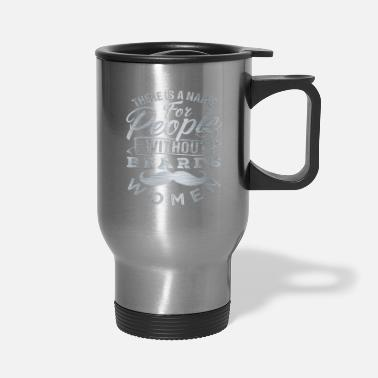 Facial Hair Beard facial hair mustache - Travel Mug