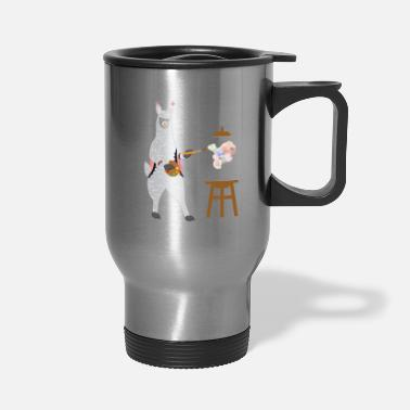 Alpaca Cute Alpaca Llama Painting Paint Drawing Art Gift - Travel Mug