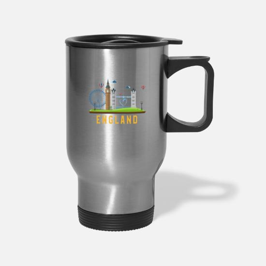 London Mugs & Drinkware - London T Shirt England UK British Souvenir Tourist - Travel Mug silver