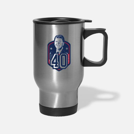 Ronald Mugs & Drinkware - 40 Ronald Reagan - Travel Mug silver